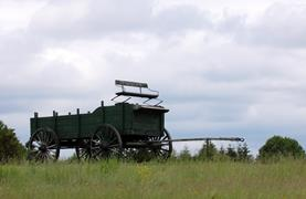 Wagon On Hill
